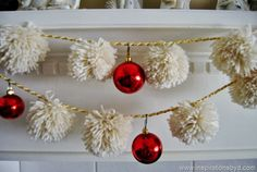 DIY Pom Pom Garland via Inspirations by D