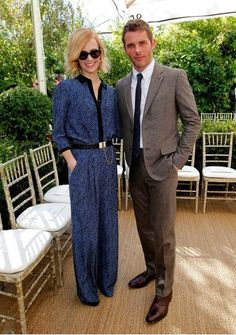 James Marsden in Band of Outsiders suit for the CFDA/Vogue Fashion Fund runway show (at Chateau Marmont).