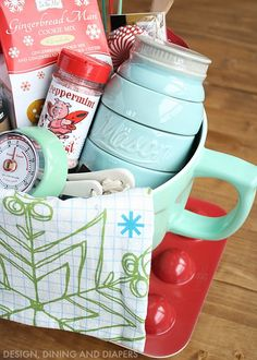 How to Create The Perfect Gift Basket via Design Dining and Diapers >> #WorldMarket Share the Joy -- Treats donated to our wonderful teachers!