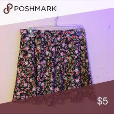 different flowers skirt skater skirt type Forever 21 Skirts