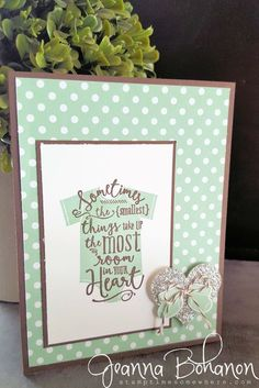 Mint Macaron and Layered Love   April 2016 Stampin' Up! OnStage Display Board Sample Jeanna Bohanon