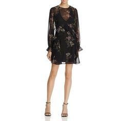 23ff275ad41 ASTR the Label Womens Black Chiffon Ruffled Knee-Length Party Dress XS BHFO  7345