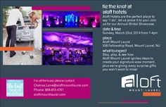 We are all abuzz about our brides! Join us for our annual bridal showcase and see how Aloft does weddings with undeniable sass! #aloftweddings @Aloft Mount Laurel