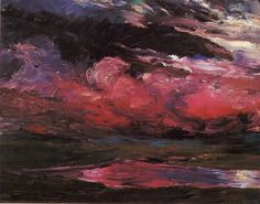 colourthysoul:  Emil Nolde - Drifting heavy-weather clouds (1928)