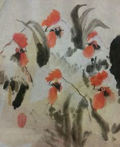 Rooster . My first attempt on Chinese painting