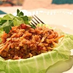 Golompke (Beef and Cabbage Casserole) Allrecipes.com. Quick and easy alternative to stuffed cabbage rolls -- tastes delicious! (You can add spices to your liking if desired.) When they say coleslaw, they mean the shredded cabbage only (no sauce).