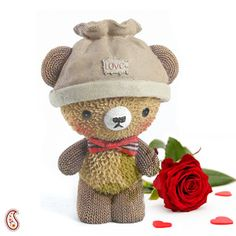 Convey your warm feelings of love & heartfelt wishes for your valentine with this Ceramic base Teddy. $15.99