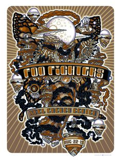 Guy Burwell Foo Fighters Posters St. Paul & Albuquerque Release
