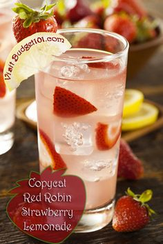 Copycat red robin lemonade (pretty for valentine's day)