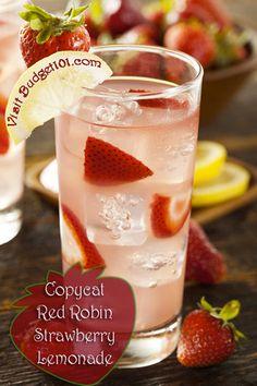 Copycat red robin lemonade (pretty for valentine's day)