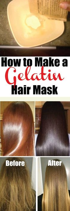 If you've ever gotten a gelatin hair mask done at the salon, you know just how expensive they can be! A gelatin hair mask, also known as hair lamination, is a process in which a protective layer is added to the hair to add shine and fix split ends.