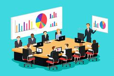 Buy Meeting Room Scene by artisticco on GraphicRiver. A vector illustration of meeting room scene. Vector illustration, zip archive contain eps 10 and high resolution jpeg. Character Flat Design, Export Business, Eid Cards, Gold Stock, Teamwork, Pharmacy, Carrera, Book Quotes, Accounting