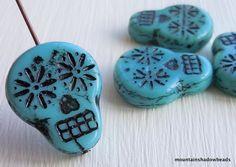 20mm Sugar Skull Beads   Skull Beads  by mountainshadowdesign