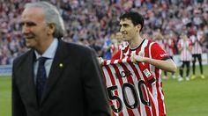 Iraola homenajeado por sus 500 partidos con el Athletic
