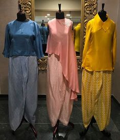 the dhoti trend Pakistani Dresses, Indian Dresses, Indian Outfits, Kurta Designs, Blouse Designs, Tulip Pants, Chic Outfits, Fashion Outfits, Indian Designer Wear