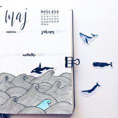 Sea themed bullet journal layout #WilliamHannahUK #BecauseWritingHelps #bujo #bulletjournal #bulletjournaling #diary #planner #stationeryaddict #notebook www.williamhannah.com