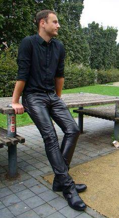 Slim simple Leather Pant                                                       …