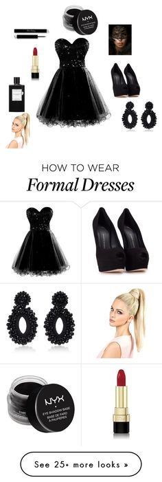 """A dance with Death"" by fashionforward-822 on Polyvore featuring Giuseppe Zanotti, Masquerade, Dolce&Gabbana, Van Cleef & Arpels, Bibi Marini and NYX"