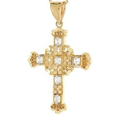 10k Gold Diamond Cut Celtic Cross Religious CZ Charm Pendant Jewelry Liquidation. $106.50. Made in USA!. Made with Real 10k Gold