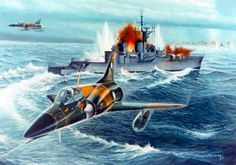 Argentinian jets sinking HMS Coventry, Falklands War