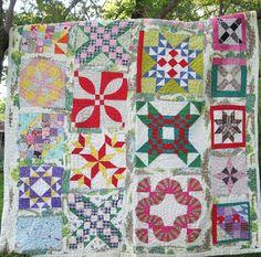 Antique Sampler Star Feedsack Vintage Quilt  by SwankyTexasVintage, $1200.00