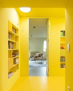 Yellow cream via ettoresottsass (3)- interior, wall, color