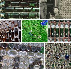 BEACH's survey of eight historic houses made from glass bottles Wine Bottle Wall, Bottle House, Bottle Art, Bottle Crafts, Bottles And Jars, Plastic Bottles, Glass Bottles, Empty Bottles, Recycled Bottles