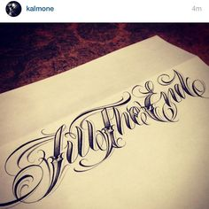 @ kalmone One of the dopest lettering artist in the game! Tattoo Writing Fonts, Calligraphy Tattoo Fonts, Tattoo Lettering Styles, Chicano Lettering, Graffiti Lettering, Hand Lettering, Typography, Tattoos Skull, Baby Tattoos