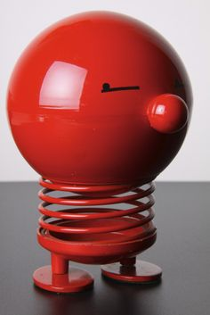 The Hoptimist 'Billionaire Bimble' moneybox is a classic of Danish Modern design.  The range of brightly coloured spring bodied toy figures were created by Hans Gustav Ehrenreich in 1969
