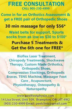 Orthopedic Shoes, Sport Socks, Massage, Free, Massage Therapy