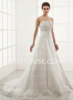 Wedding Dresses - $183.99 - A-Line/Princess Sweetheart Chapel Train Satin Tulle Wedding Dresses With Lace Beadwork (002000179) http://jjshouse.com/A-line-Princess-Sweetheart-Chapel-Train-Satin-Tulle-Wedding-Dresses-With-Lace-Beadwork-002000179-g179