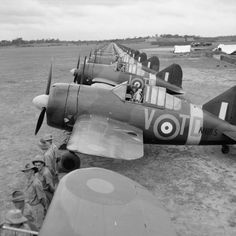 Buffalo Mark Is of No. 453 Squadron RAAF, lined up at Sembawang, Singapore, on the occasion of an inspection by Air Vice Marshal C W H Pulford, Air Officer Commanding Royal Air Force Far East. Navy Aircraft, Aircraft Photos, Ww2 Aircraft, Fighter Aircraft, Military Aircraft, Fighter Jets, Ww2 Fighter Planes, Napoleon, Brewster Buffalo
