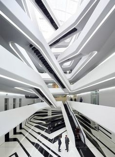 Dominion Office Building in Moscow by Zaha Hadid Architects : Archit. - Dominion Office Building in Moscow by Zaha Hadid Architects : ArchitecturePorn - Zaha Hadid Architecture, Architecture Design, Architecture Art Nouveau, Futuristic Architecture, Amazing Architecture, Contemporary Architecture, Zaha Hadid Interior, Building Architecture, Zaha Hadid Buildings