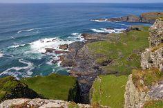Clan Donald Lords of Islay (McDonald) Steep cliffs north of Saligo, Isle of Islay