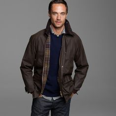J.crew Barbour® Sylkoil Bedale Jacket in Brown for Men (olive) | Lyst