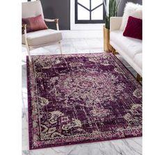 Purple 5' 3 x 7' 7 Madeline Rug | Rugs.com