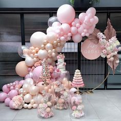 """Baby Shower Decor Calling all """"Pinkaholics""""💖💖 Girl Baby Shower Decorations, Balloon Decorations Party, Birthday Party Decorations, Baby Shower Themes, 1st Birthday Girls, Diy Birthday, Birthday Parties, Themed Parties, Balloon Arch"""