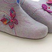 """Обувь ручной работы. Ярмарка Мастеров - ручная работа Валяные чуни """"Эльфийские мотыльки"""". Handmade."""