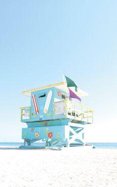 Beach Wedding Setup, Miami Art Deco, Art Deco Buildings, Lifeguard, Miami Beach, Creative Art, Seaside, Art Work, Coastal