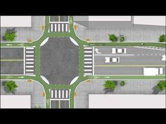 Junction design for safer bicycle paths. -- This is pretty interesting and would help prevent injuries when cars make a right hand turn. Helps the driver see the cyclist. He addresses more about it here: http://bicycledutch.wordpress.com/2011/04/07/state-of-the-art-bikeway-design-or-is-it/