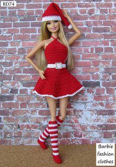 Irresistible Crochet a Doll Ideas. Radiant Crochet a Doll Ideas. Crochet Barbie Patterns, Crochet Doll Dress, Crochet Barbie Clothes, Doll Clothes Barbie, Barbie Dress, Doll Clothes Patterns, Débardeurs Au Crochet, Crochet Toys, Barbie Dolls Diy