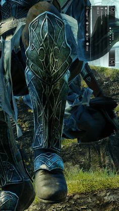 Talion dark ranger shin armour.