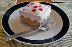 Minecraft Cake Plush Mini by EeeBeeDee on Etsy Minecraft Video Games, Minecraft Room, Minecraft Cake, Minecraft Crafts, Minecraft Party, Minecraft Stuff, Geek Crafts, Cute Crafts, Diy Crafts