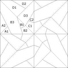 Resultado de imagen de patrones de estrellas de patchwork gratis
