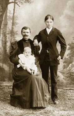 19th Century Cross Dressing - I think it's very interesting, and makes a lovely family portrait. I had never heard about this until coming across this Pin.