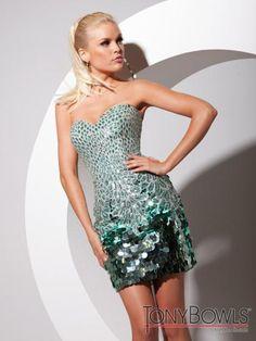 Tony Bowls Shorts Dress TS11389 at Prom Dress Shop