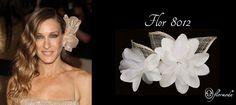 La flor de Sarah Jessica Parker le queda fantástica. Nuestra flor de seda es un complemento perfecto para un recogido de lado.