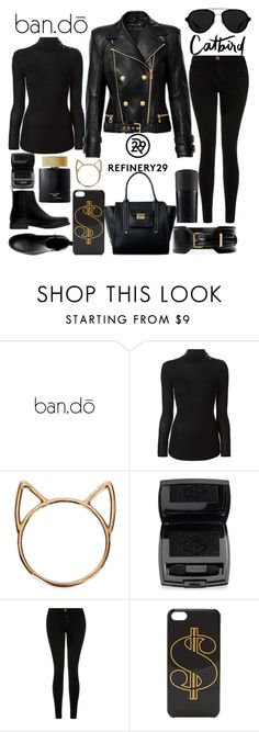 """""""upgrade your chic with refinery 29"""" by j-n-a ❤ liked on Polyvore featuring ban.do, Balmain, Catbird, Lancôme, 3.1 Phillip Lim, Current/Elliott, Altuzarra, women's clothing, women and female"""