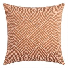Rust Geometric Angle Jacquard Throw Pillow by World MarketYou can find World market and more on our website.Rust Geometric Angle Jacquard Throw Pillow by World Market Sofa Throw Pillows, Diy Pillows, Accent Pillows, Decorative Throw Pillows, Modern Throw Pillows, Lumbar Pillow, World Market Store, Rug Sale, Tatuajes