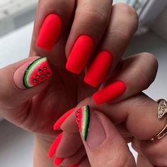 Keep reading for 90 of our favorite easy winter nail designs to add to your manicure to-do list. Keep reading for 90 of our favorite easy winter nail designs to add to your manicure to-do list. Cute Summer Nail Designs, Cute Summer Nails, Nail Designs Spring, Nail Art Designs, Fruit Nail Designs, Colourful Nail Designs, Nail Ideas For Summer, Summer Nail Art, Cute Short Nails